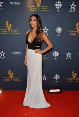 Shay Mitchell Flaunts Sexy Cleavage At Canadian Screen Awards
