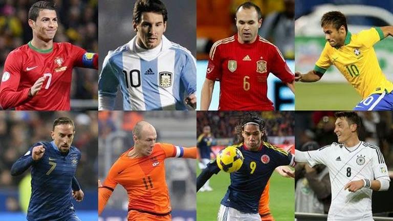 Las estrellas del mundial de Brasil 2014