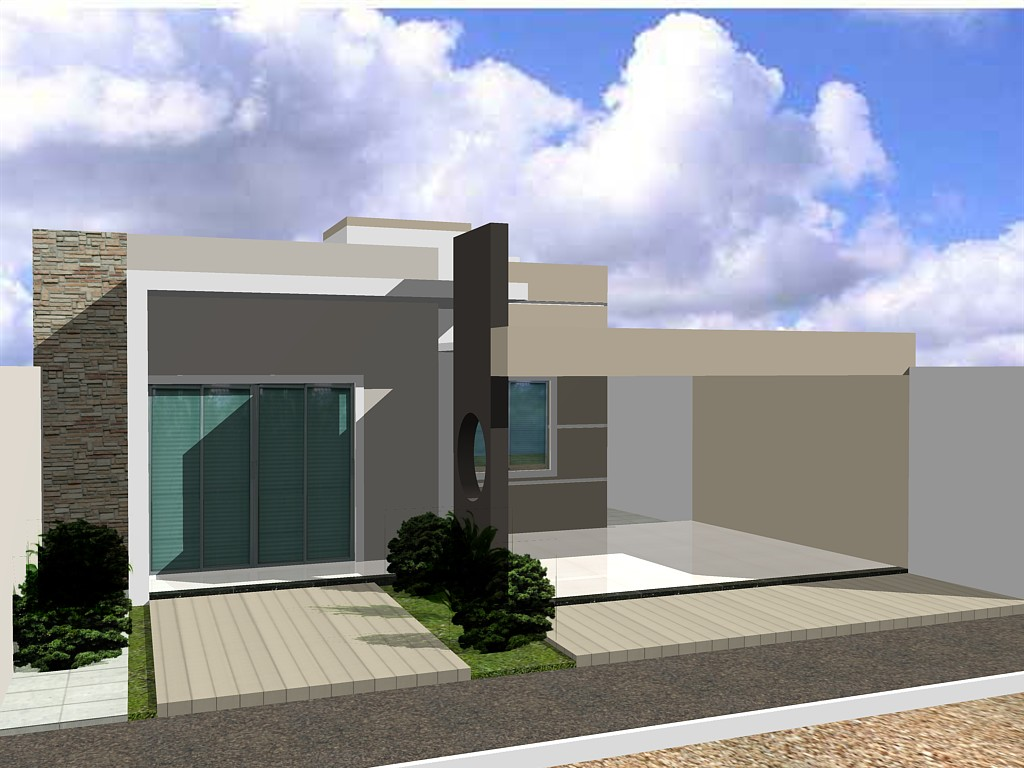 Fachada 3d casa no b san moraes guanambi ba for Casas 3d