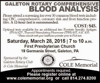 3-28 Galeton Blood Analysis