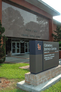 Front of College of Criminal Justice building.