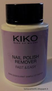 Kiko Nail Polish Remover Fast & Easy.