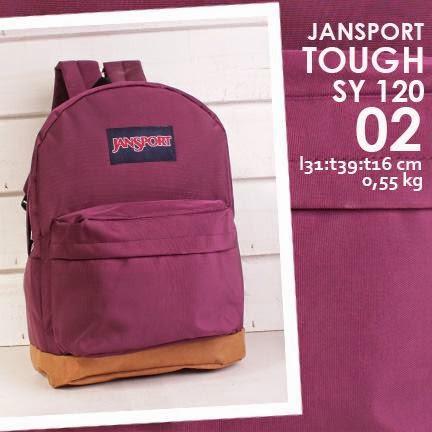 jual online tas ransel jansport kanvas polos warna ungu harga murah
