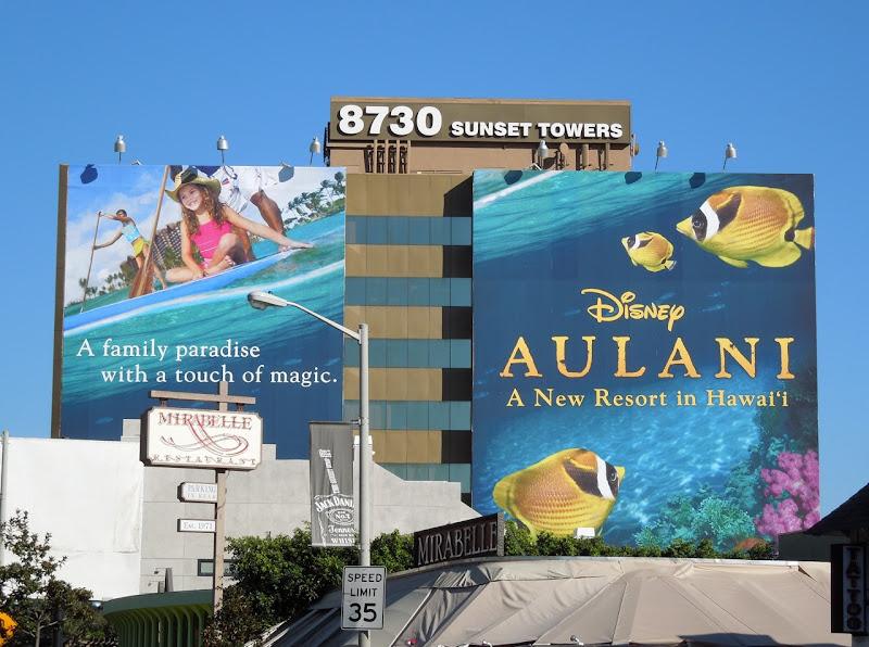 Giant Disney Aulani fish billboard