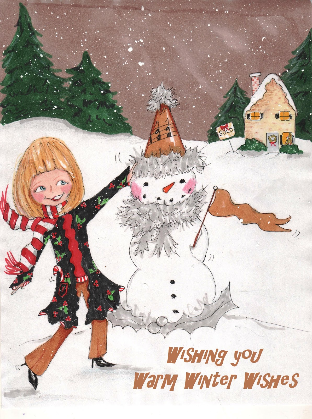 Rose Hill Designs Sunday Sketches Winter Wishes