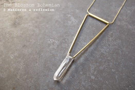 Sautoir cristal Blossom Bohemian plaqué or