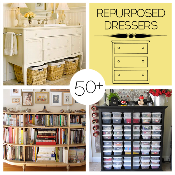 50 repurposed dresser projects to make diy craft projects - Diy ideas repurposing old clothing ...