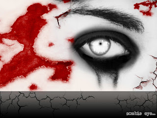 Girl Zombie Eye Dark Gothic Wallpaper