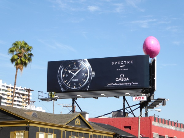 Omega Spectre 007 watch billboard