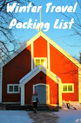 Travel the World: Winter travel packing list for a vacation filled with winter outdoor activities.