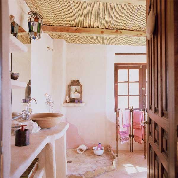 Bohemian chic bathroom casa de campo boho chic