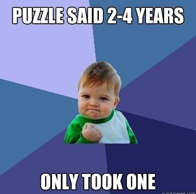puzzle%2Bsaid%2B2%2B %2B4%2Byears success kid meme puzzle said 2 to 4 years daily vowel movements