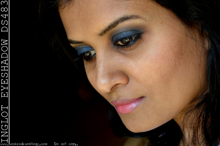 Inglot D.S. 483 Eyeshadow Review Swatches FOTD Makeup Blog Beauty Reviews Swatches FOTD EOTD Looks