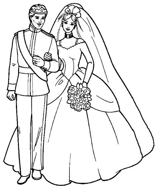 princess gown coloring pages - photo#5