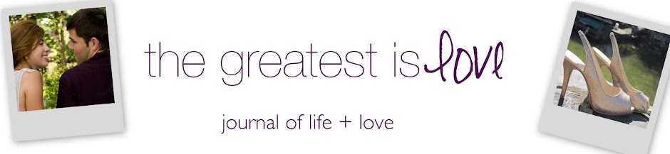 the greatest is love.