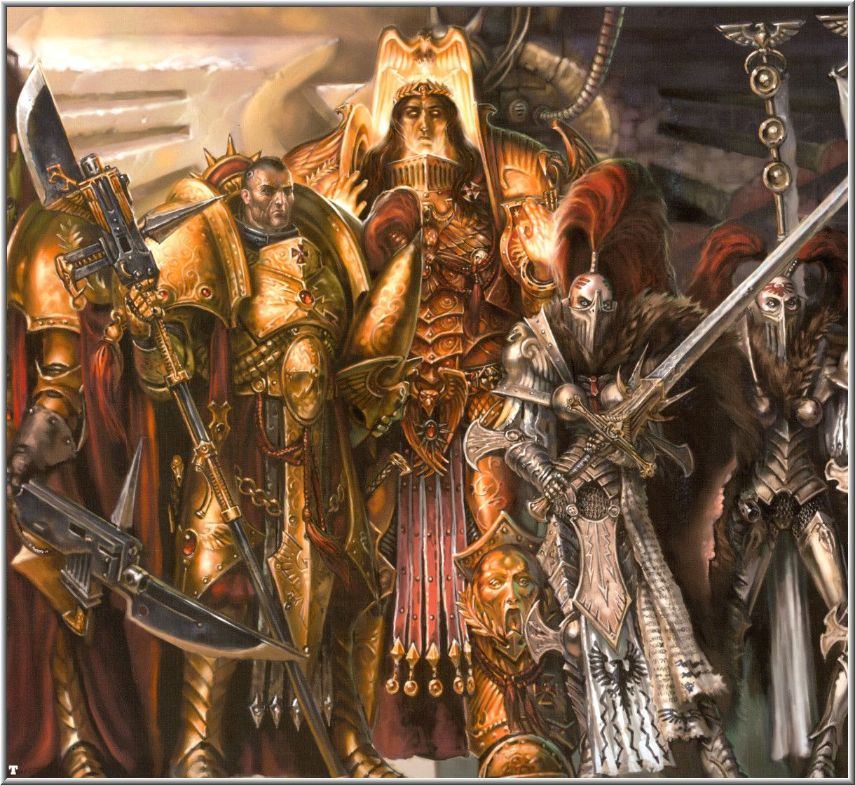 "Warhammer 40k Art + More: ""The Emperor of Man + Retinue"""