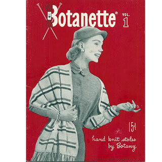 Vintage Pattern Book for Knitted Stoles
