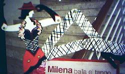 """una chichi que promocionaba las funciones del documental  """"MIlena Baila el tango..."""