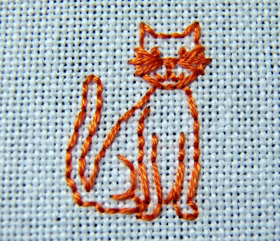"The orange kitty from ""All Things Bright and Beautiful.""  (c) Erin E. Turowski, 2012."