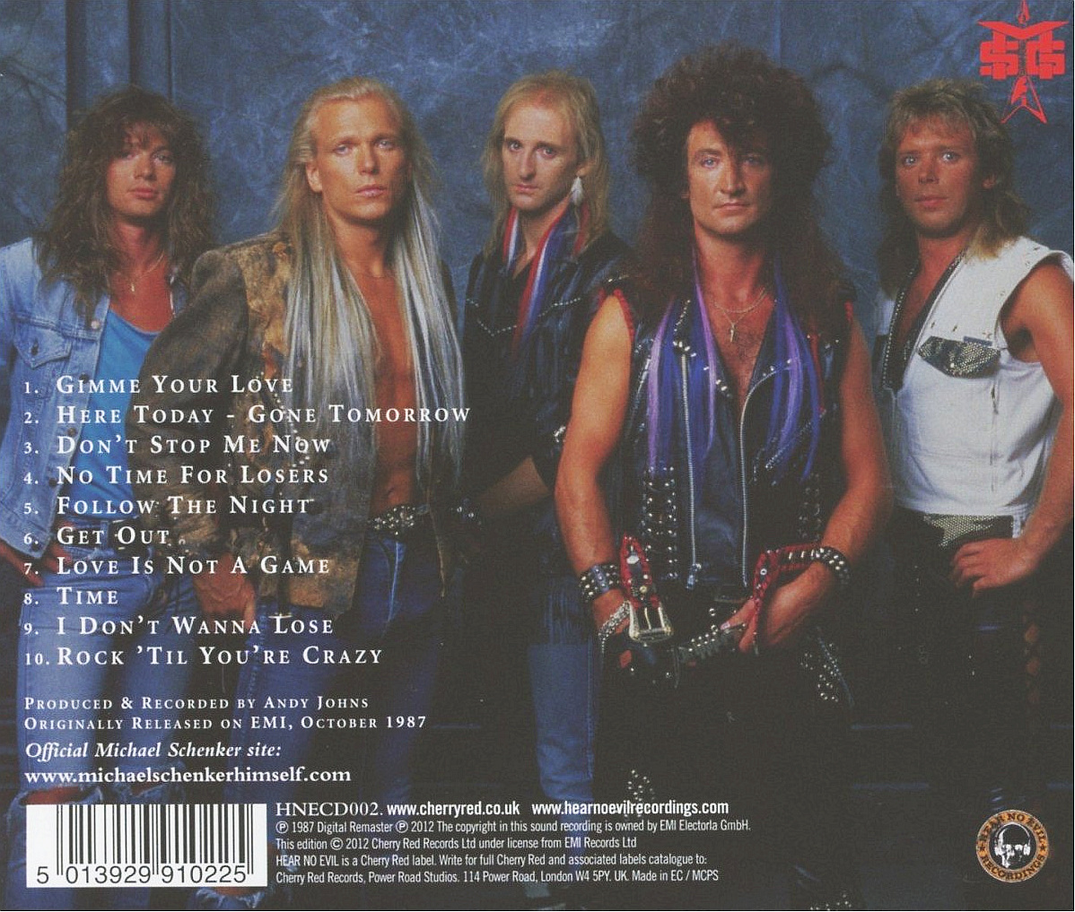 McAULEY SCHENKER GROUP - Perfect Timing [Remastered] (2012) back cover