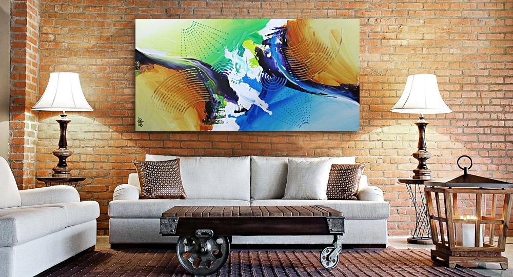 Sala De Estar Com Quadros Modernos ~ Quadros abstratos para sala de estar