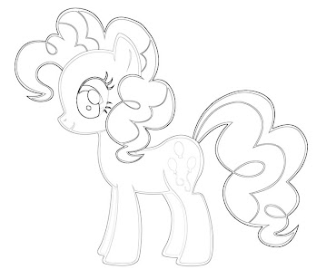 #11 Pinkie Pie Coloring Page
