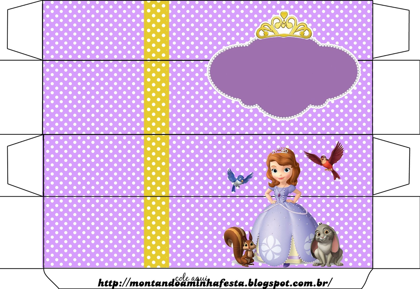 Kit digital grátis para imprimir Princesa Sofia Disney ...