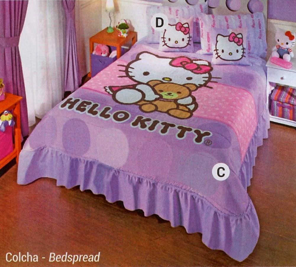 Hello Kitty Lilac Bedspread