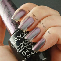 OPI GelColor Gel Polish Peace Love and OPI Swatch