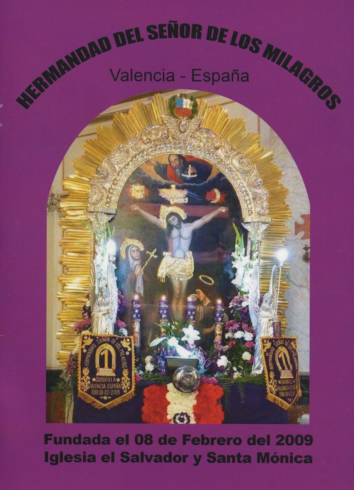 Hermandad del Señor de los Milagros de Valencia España