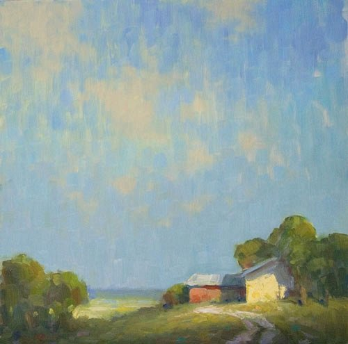 Steve Allrich: New England landscape painting : The Afterthought of Morning