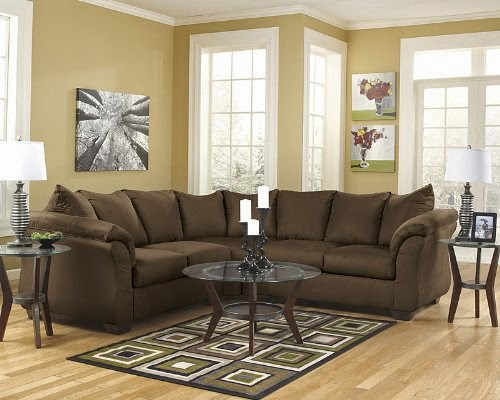 Flash Furniture Darcy Sectional Sofa, Cafe Fabric