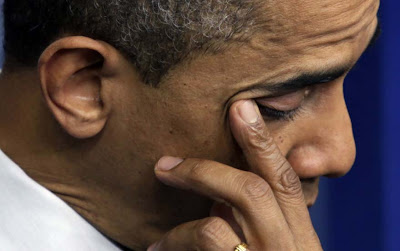 President Obama Crying About Connecticut School Shooting