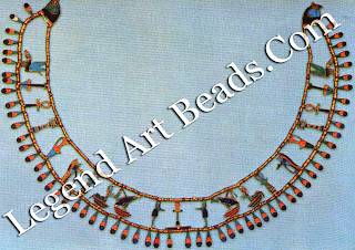 Falcon Collar of Princess Khnumet, from Dahshur