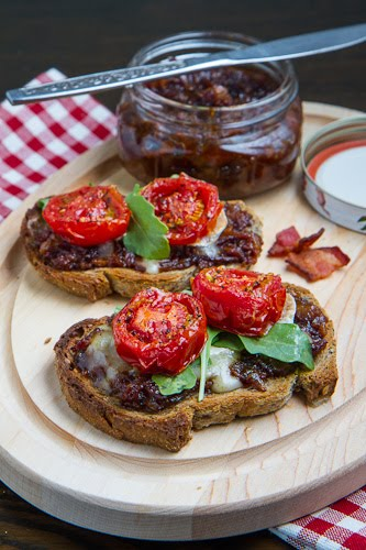 Bacon Jam Crostini with Melted Brie and Roasted Tomatoes on Closet ...