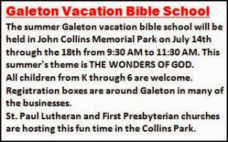 7-14/15/16/17/18 Galeton Vacation Bible School