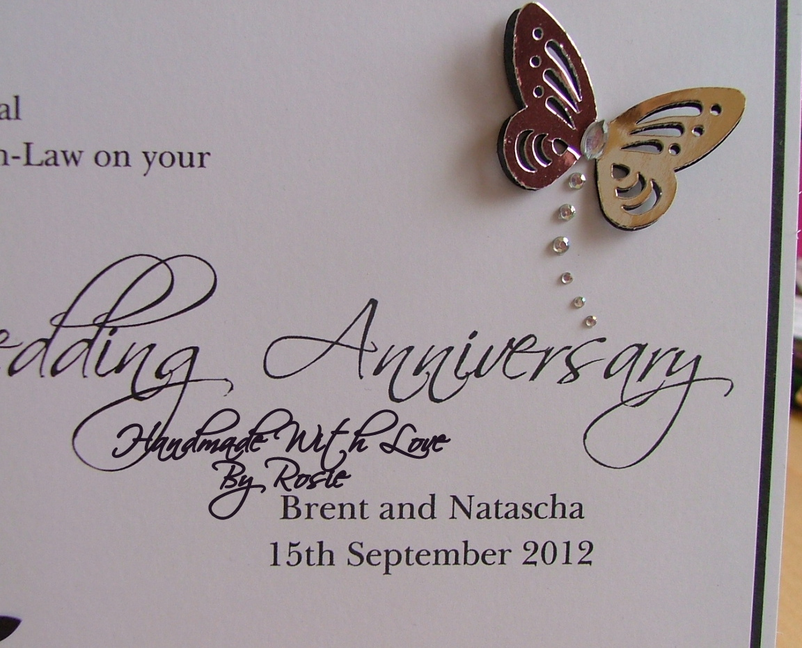 Rosies Cards 1st Wedding Anniversary Card