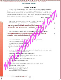 6.Sinif  Turkce Doku Yayinlari Ogrenci Calisma Kitabi Sayfa 148