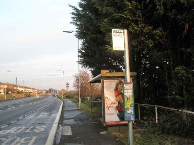 Bus stop at Forty Acres