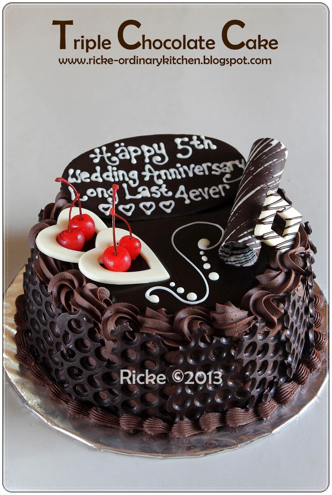 TRIPLE CHOCOLATE CAKE FOR MBA RETNA 1000 Aneka Resep Masak