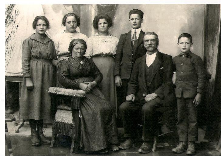 La famiglia di Giacomo e Maria Agata Ganza
