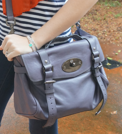 Away From Blue Mulberry Regular Alexa Bag Foggy Grey