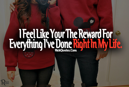 Love Quotes | Right In My Life Couple Hug Red Dress