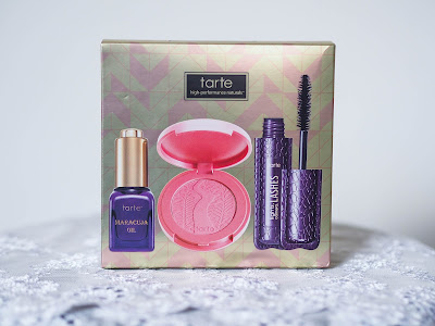 Tarte : Maracuja Oil, Amazonian clay 12 hour blush in fanciful, Light, Camera, Lashes mascara