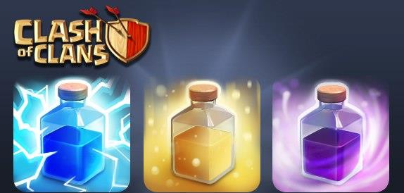 Clash of Clans Healing,Lightning ,Rage Spell