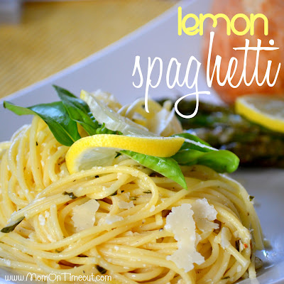 Lemon Spaghetti | Mom On Timeout