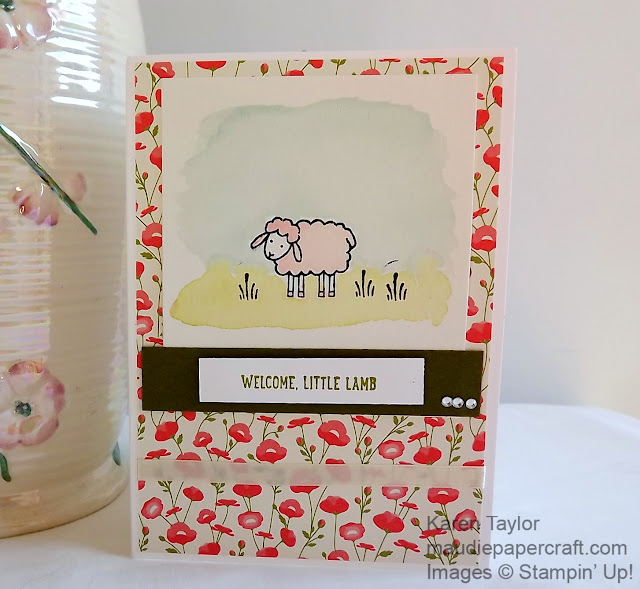 Stampin' Up! Barnyard Babies watercolour card