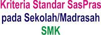 Kriteria Saspras standar sarana prasarana SMK