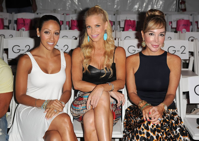 Melissa Gorga, Alexia Echeverria and Marysol Patton at L* Space at MBFWS 2014