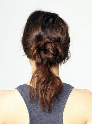 gaya cepol rambut untuk pesta tahun baru